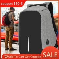 Рюкзак для ноутбука с защитой от кражи IKE MARTI, 15,6, городской мужской рюкзак, рюкзак, водонепроницаемый черный школьный женский рюкзак с защит...