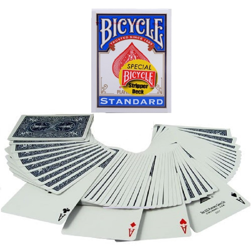 1 uds, baraja de stripper para bicicleta, cartas mágicas, cartas de juego, trucos de magia de calle para mago profesional, Chico, juguetes de rompecabezas