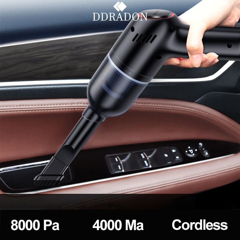 8000Pa Wireless Car Vacuum Cleaner Cordless Handheld Auto Vacuum Home & Car Dual Use Mini Vacuum Cleaner With Built-in Battrery