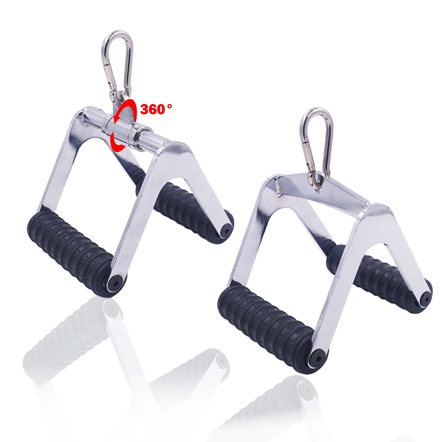 Fitness Heavy Duty Rowing Handles Gym Workout T-Bar Double D-Handle Cable Machine Accessories Triceps Pull Down V Shaped Bar
