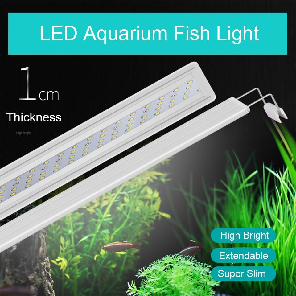 Adjustable Clip-on 8W-13W LED Aquarium Lighting Fresh Water LED Light for Tanks Fish Plants Grow Light