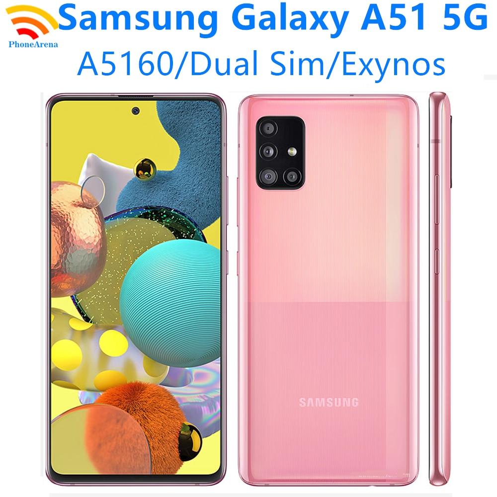 Перейти на Алиэкспресс и купить Оригинальный разблокированный сотовый телефон Samsung Galaxy A51 A5160, новинка 98%, телефон с двумя SIM-картами, диагональ экрана 6,5 дюйма, 8 ГБ + 128 Гб ПЗУ, ...