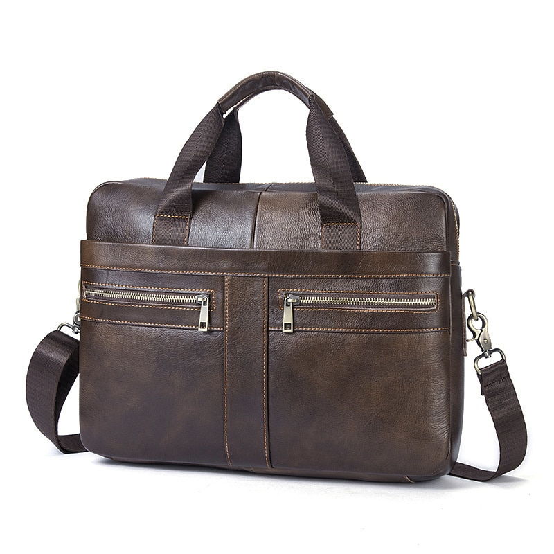 Genuine leather laptop bag 13.3 inch Famous Brand Shoulder Bag Messenger Bags Causal Handbag Laptop Briefcase Male