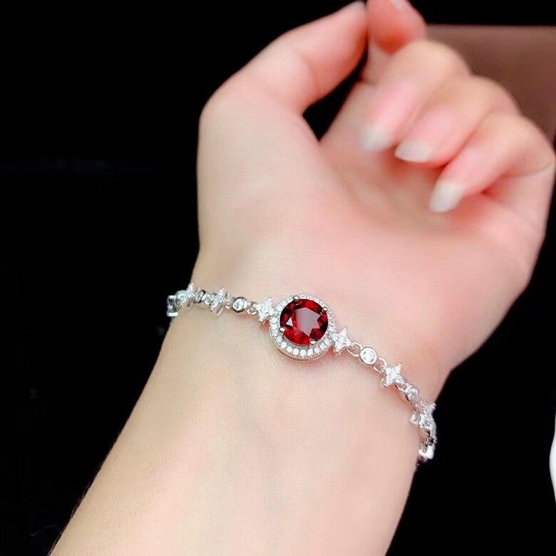 CoLife مجوهرات موضة فضة سوار من الأحجار الكريمة لارتداء اليومي 8 مللي متر العقيق الطبيعي سوار Brithday هدية للمرأة