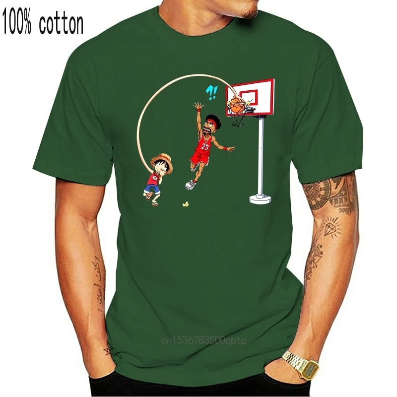 Camiseta Manga - Parodia de Luffy de una pieza-en la cesta bola...