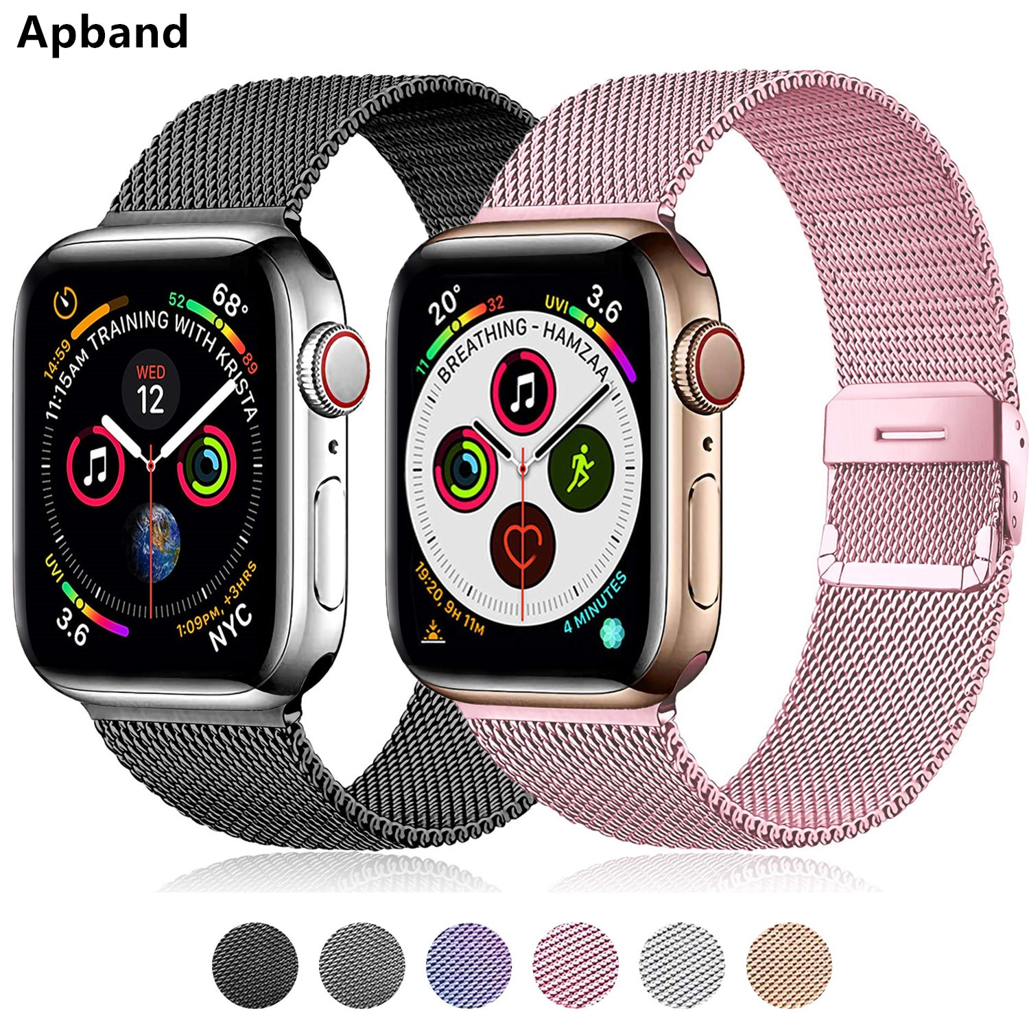 Milanese strap For Apple watch band 44mm 40mm iWatch band 42mm 38mm Metal Stainless steel bracelet Apple Watch series 4 3 5 SE 6 woman strap for apple watch band 40mm 44mm link bracelet iwatch band 38mm 42mm stainless steel for apple watch series 6 5 4 3 2