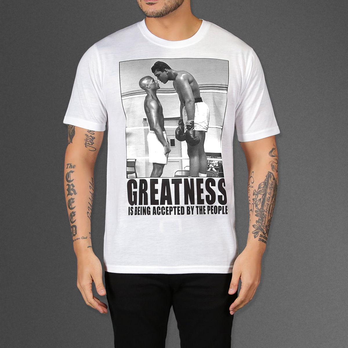 Floyd Mayweather VS Muhammad Ali Größe Mike Tyson Manny Pacquiao Weiß Tshirt
