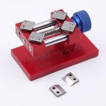 Ouvreur de lunette de montre rouge/argent professionnel outil de retrait ouvreur de boîtier arrière ouvreur de boîtier outil de réparation de pièces de montre pour horloger