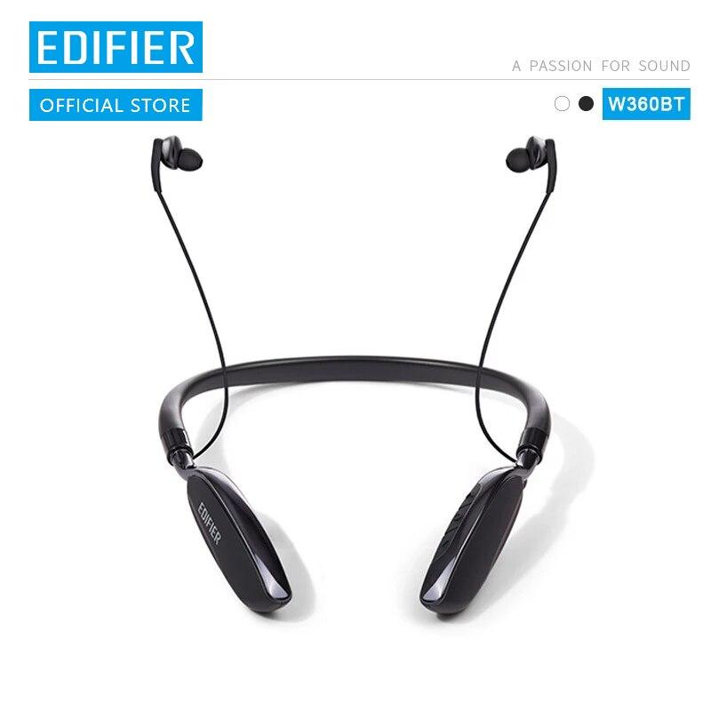 EDIFIER W360BT kablosuz Bluetooth boyun bandı kulaklık yuvarlak boyuna kulaklık spor kulaklık 13mm neodimyum sürücüler