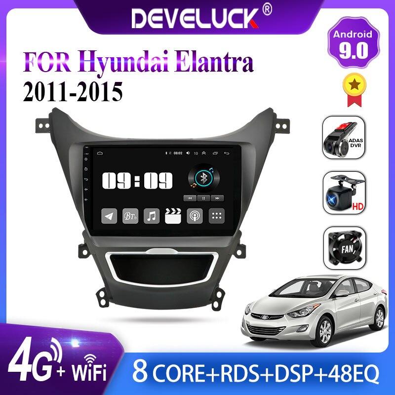 Android 9,0 Auto Radio Multimedia video Player carplay GPS Navigation Für Hyundai Elantra Avante I35 2011-2016 FM 2din stereo DVD