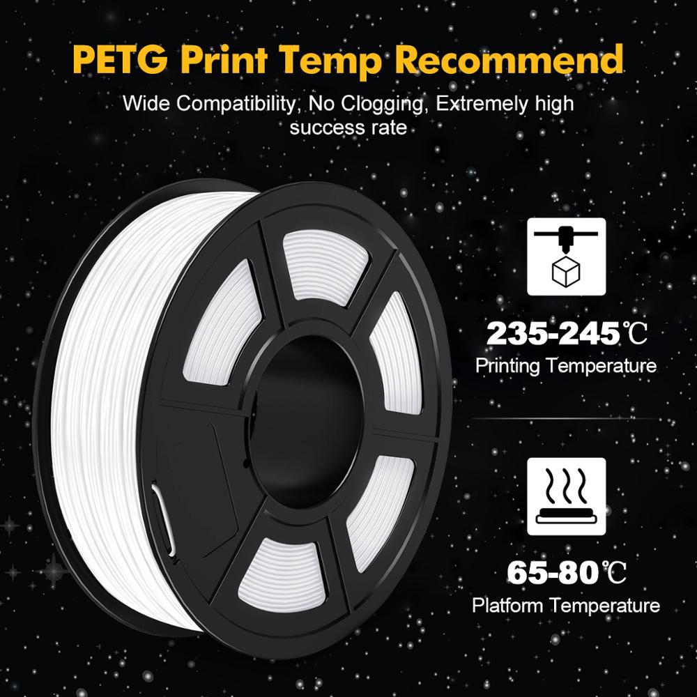 PETG Filament 3D Printer Plastic 1.75mm 1kg 3D Printer Filament Good Toughness Dimensional Stability High Transparency enlarge