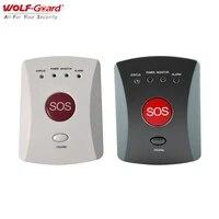 Wolf-Guard     panneau de boutons GSM SMS SOS  sans fil  une touche  alarme durgence pour enfants ages  systeme de securite domestique  433MHz