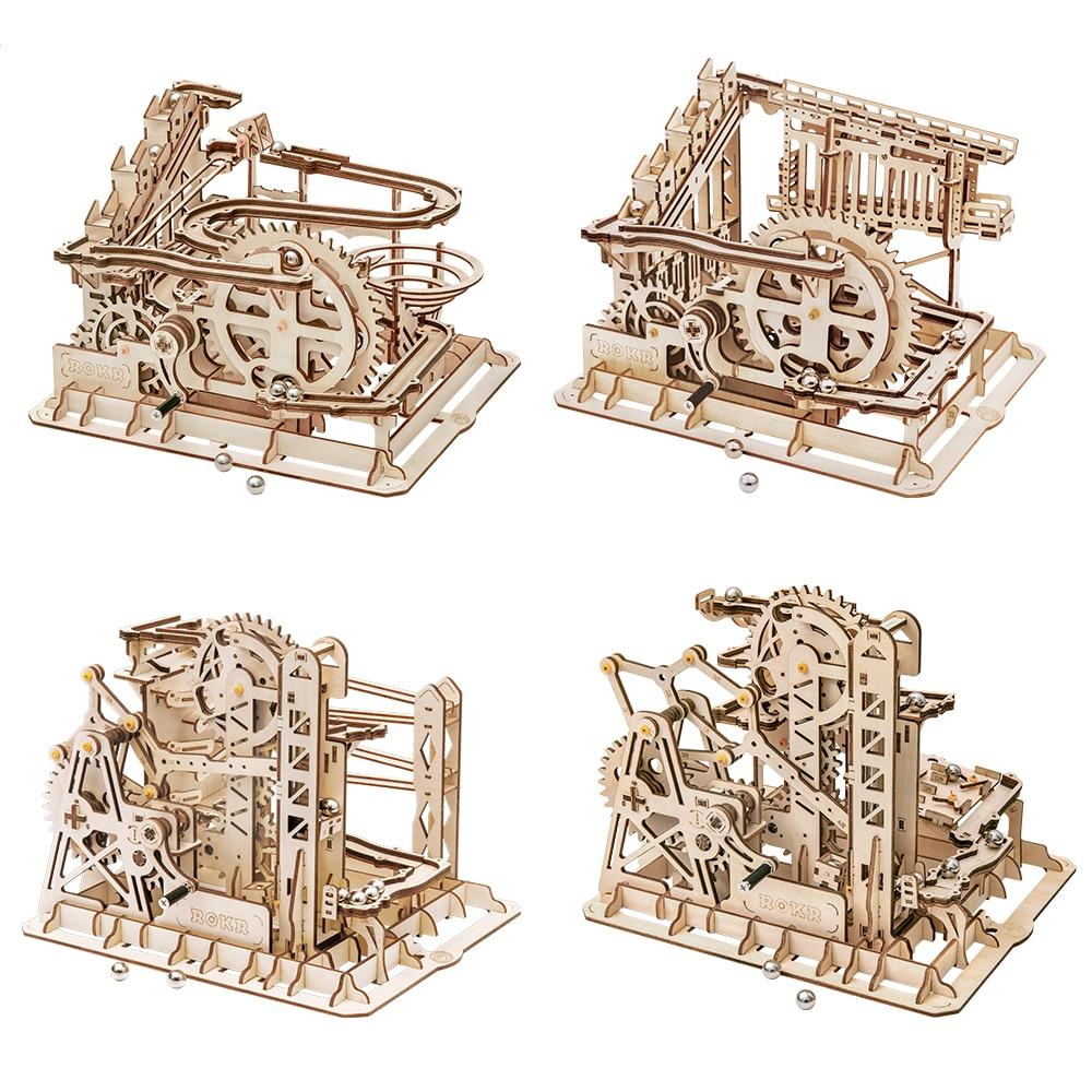 AliExpress - Robotime ROKR Blocks Marble Race Run Maze Balls Track DIY 3D Wooden Puzzle Coaster Model Building Kits Toys for Drop Shipping
