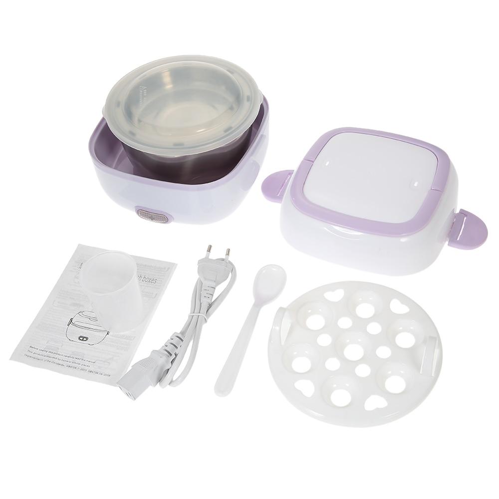 Nueva Mini olla de arroz multifuncional, caja de comida eléctrica, contenedor de Aislamiento térmico de alimentos, fiambrera de calefacción eléctrica con vaporera