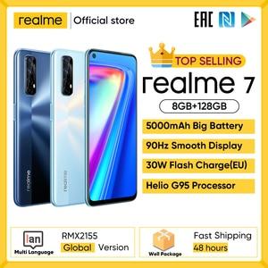 Realme 7 глобальная версия мобильный телефон 30 Вт Быстрая зарядка смартфон 8 ГБ ОЗУ 128 Гб ПЗУ смартфон Helio G95 игровой телефон