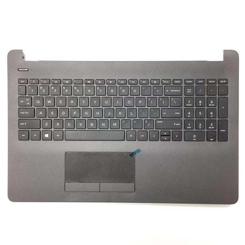 لوحة مفاتيح للحاسوب المحمول جديدة وأصلية لـ HP 15-bs053od 15-bs033cl 15-bs0xx 15-BS020WM 250 255 G6 مع غطاء علوي من Palmrest مع اللمس