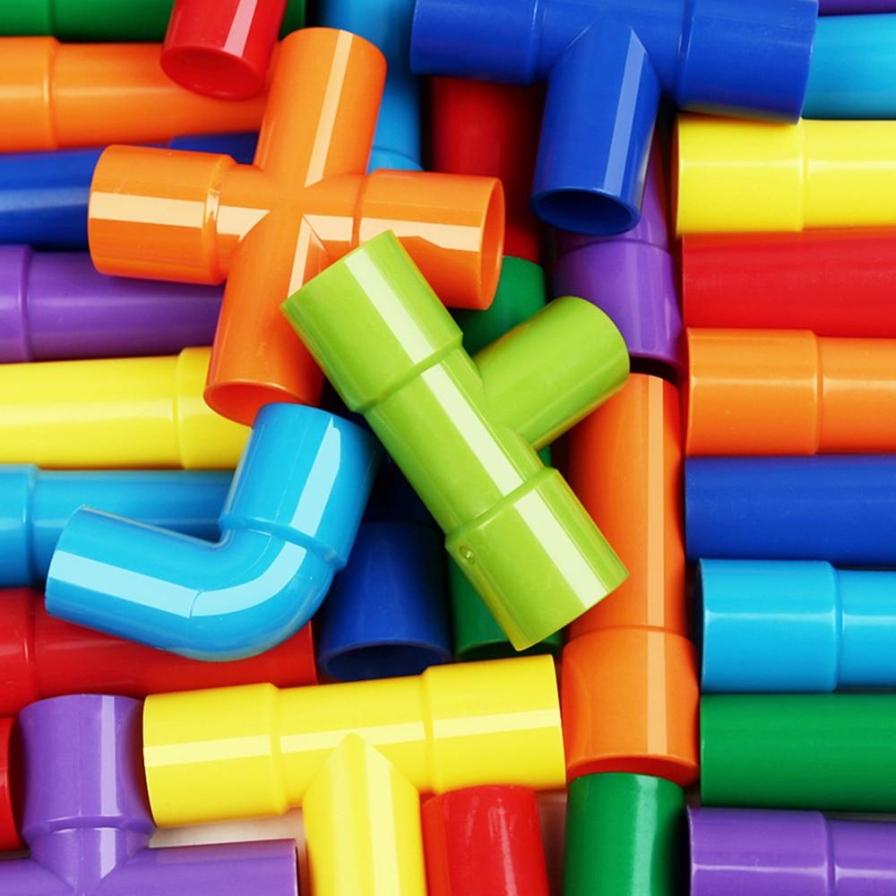 AliExpress - DIY Water Building Blocks Toys Pipeline Montessori Toys Construction Educational STEM Designer Toys For Girls Kids Water Bricks