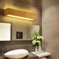 Applique murale Led en bois au Design japonais moderne  Luminaire decoratif dinterieur  ideal pour une salle de bain ou un miroir