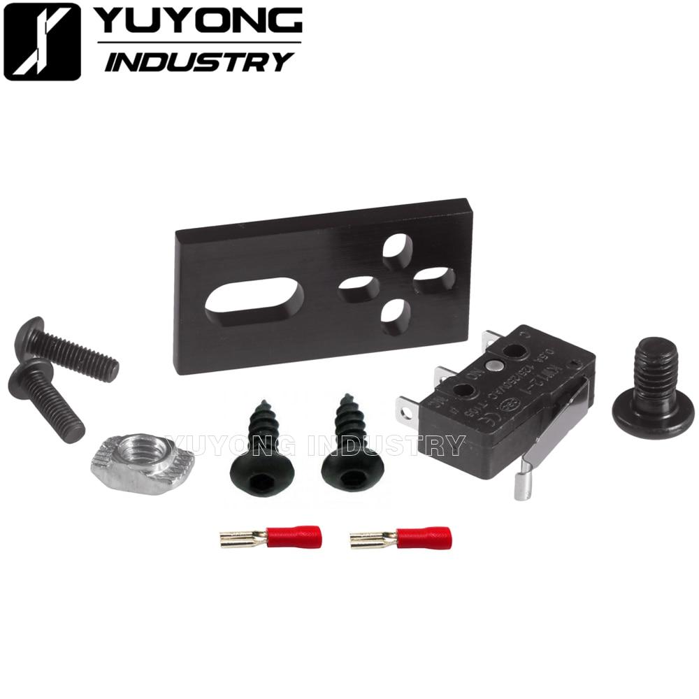Kit de Interruptor de Límite Micro con placa de montaje para impresora 3D v-slot c-beam OX CNC Workbee CNC machine system