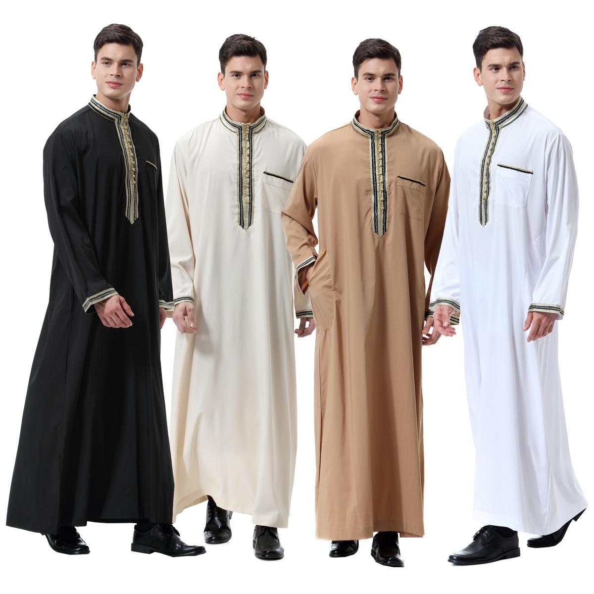 Mubarak Abaya Dubai Turkey Muslim fashion Hijab Dress Kaftan Caftan Marocain Islam Dresses For Men  ropa de hombre