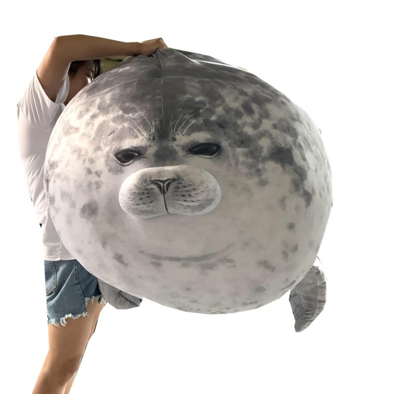 Big Size Cute Seal Plush Toy Lifelike Stuffed Sea World Animal Seal Plushie Stuffed Doll Baby Sleepi