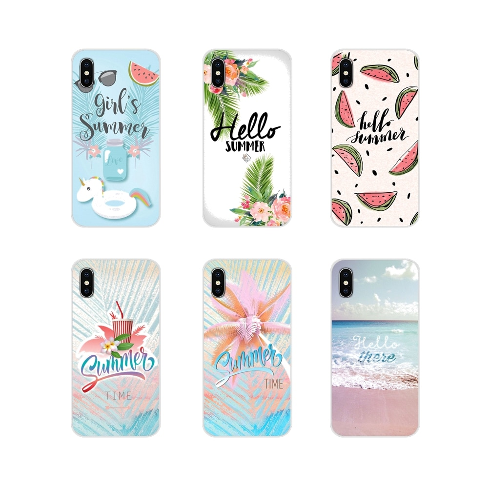 For Huawei G7 G8 P8 P9 P10 P20 P30 Lite Mini Pro P Smart Plus 2017 2018 2019 Hello Summer holiday travel girl Mobile Phone Cover