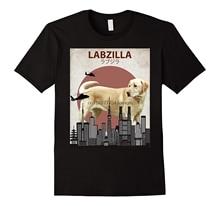 Labzilla Funny Labrador Retriever T-Shirt   Lab Lovers Gift Print Tees Short Sleeve O-Neck T Shirt Casual Men Clothing