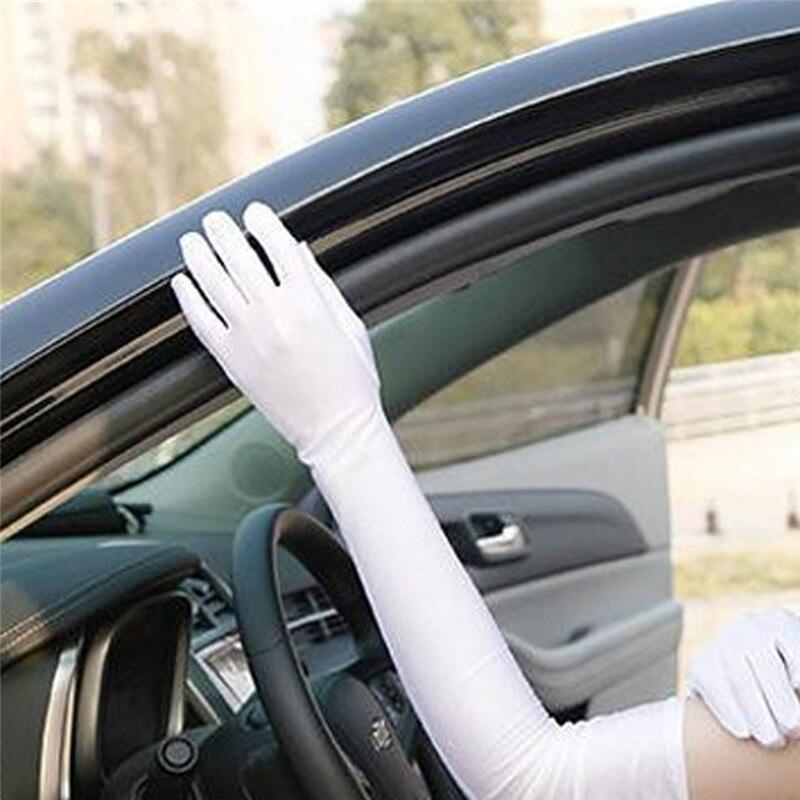 Мужские и женские Длинные Простые перчатки для выступлений, Длинные дизайнерские перчатки для официантки, белые церемониальные перчатки, п...