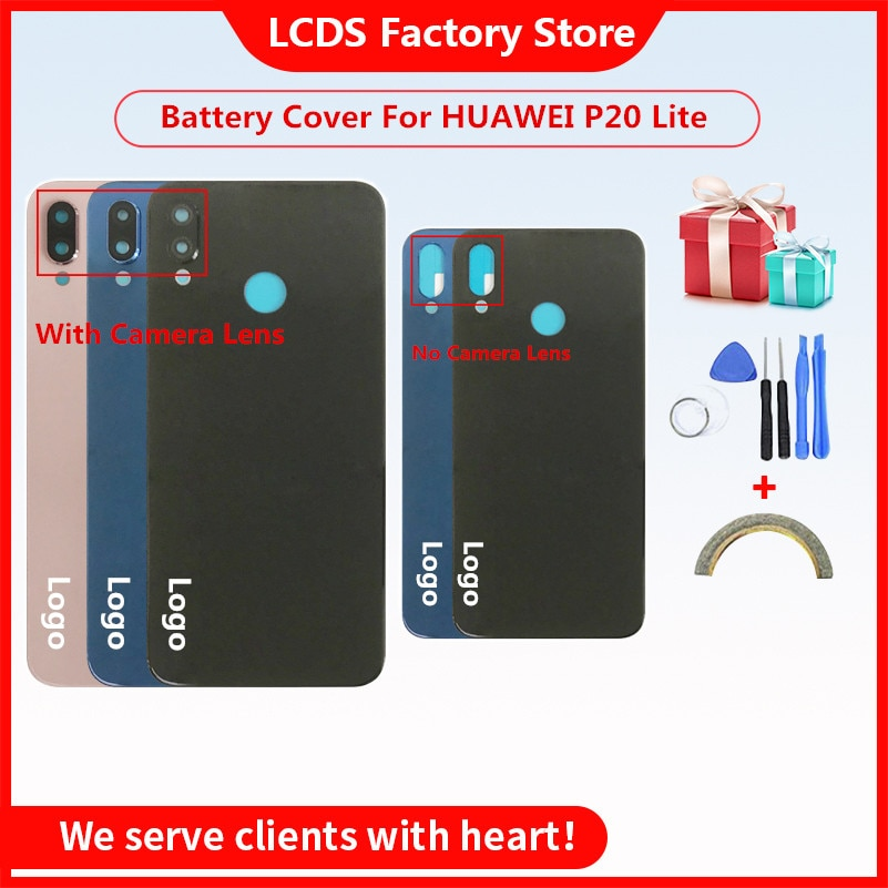 Battery Back Cover For HUAWEI P20 Lite Battery Cover Back Case For HUAWEI P20 Lite Back Cover Housin