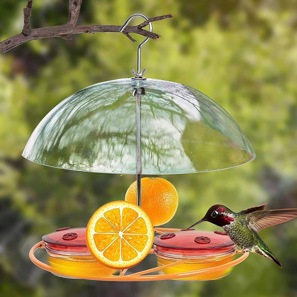 Hummingbird Feeder Bird Water Drinker Waterer with 8 Ports Outdoor Yard Hanging Oriole Wild Bird Bottle Drinking Cup Bowls