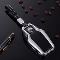 Aluminum Alloy Car Key Case Cover Key Shell Remote Key Protective for BMW 2017 7 Series 730li 740li 750 Display Key