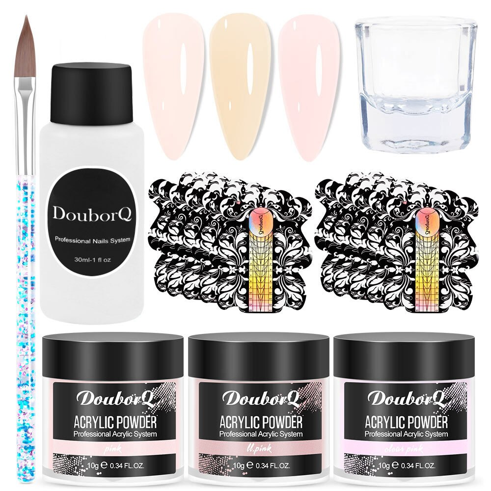 Acrylic Powder Set Dipping Carve Crystal Powder Gel For Nail Extension Builder Tools Manicure Set Ac