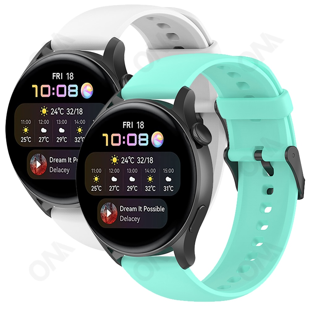 Multi-color Watchband For Huawei Watch 3 / 3 Pro / GT 2 Pro / GT2E / GT / GT2 Band 22mm Silicone Str