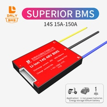 Daly BMS 18650 batterie au lithium li-ion 48v bms 14s 15A 20A 60A 80A 100A 120A 150A port séparé avec balance pour scooter solaire