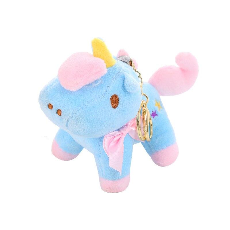 Bonito llavero con unicornio de peluche, muñeca de juguete, bolso para niña, llavero colgante, regalo para niño