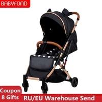 normal ship 5 8kg light baby stroller portable umbrella baby carriage sit and lie down pram luruxy newborn travel car babyfond