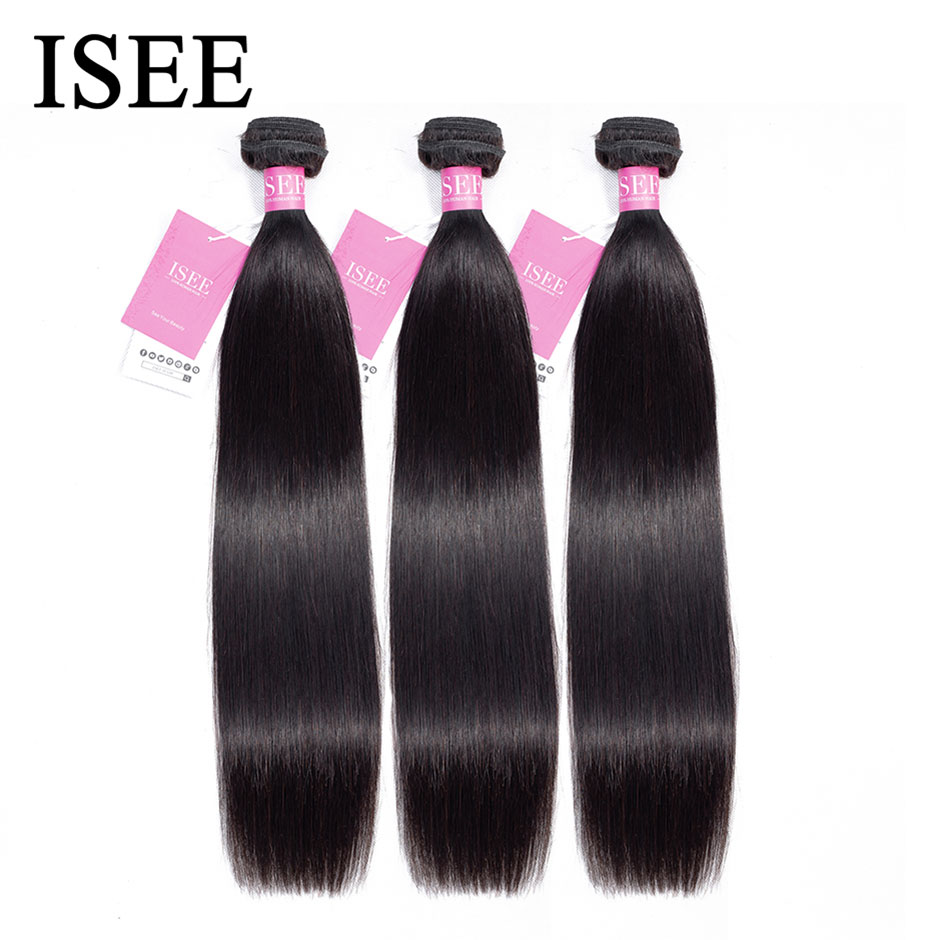 Peruvian Straight Hair Extensions Human Hair Bundles No Tangle Nature Color Can Buy 1/3/4 Bundles Re