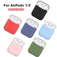 soft silicone bluetooth wireless earphone case for airpods1 2nd protective cover 12 shockproof sleeve