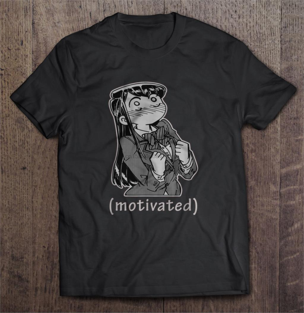 Camiseta divertida de la moda de los hombres camiseta Anime motivada Komi San motivacional Meme mujeres camiseta