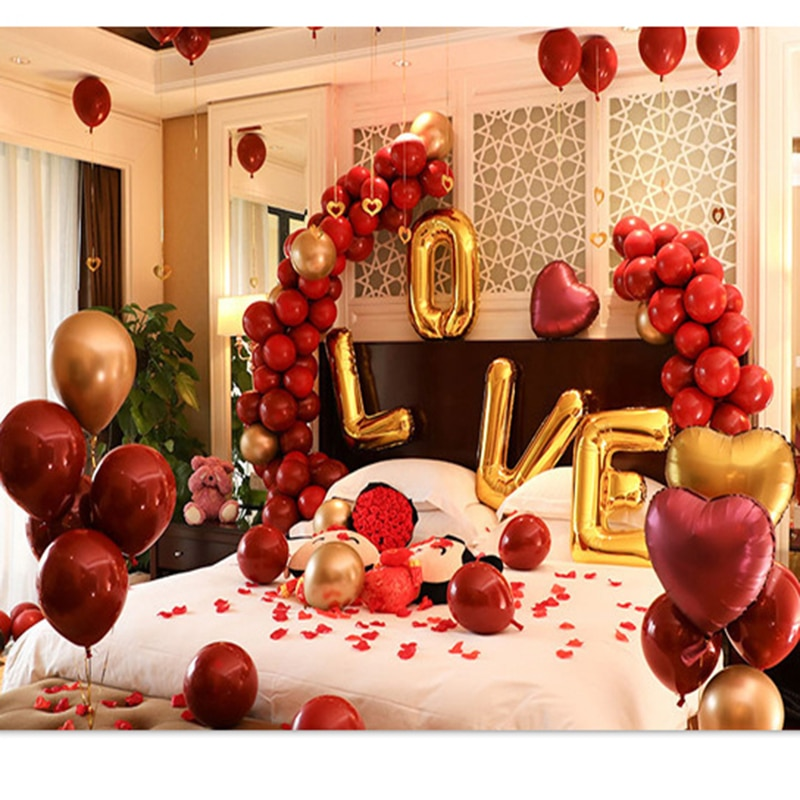 10 pulgadas equipo rojo globos para novia globos corazón desmalezamiento decoración mariage balon valentin día decoracao aniversario trouwen casa