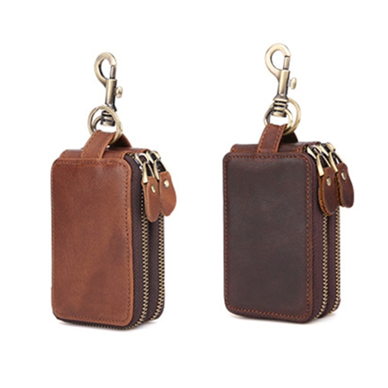 Titular da chave para mulheres homens chaves carteira bolsa saco de couro chaveiro governanta caso chave do carro organizador chave capa