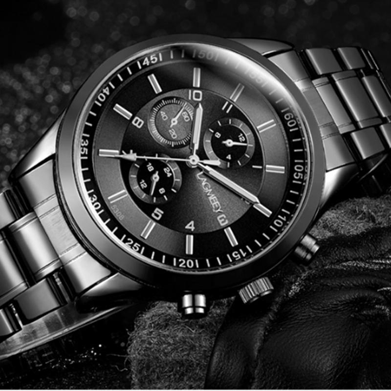 LNRRABC Роскошные военные спортивные часы мужские модные черные полностью стальные часы деловые роскошные часы ручной работы klocko