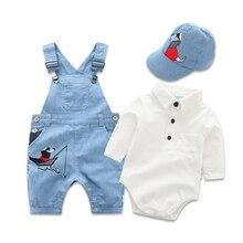 Nowborn Baby Junge Hut Strampler Kleidung Baby Set für Neugeborene Kleidung Baumwolle Bib Overall Anzug Junge Outfit