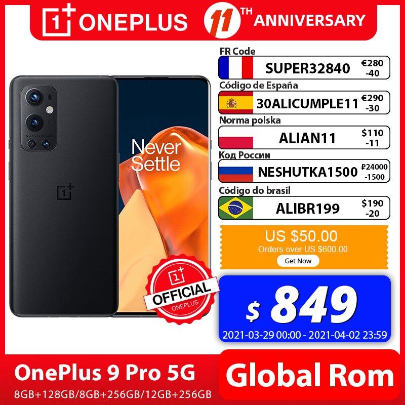 OnePlus 9 Pro 8GB 128GB Smartphone Snapdragon 888 5G 6.7'