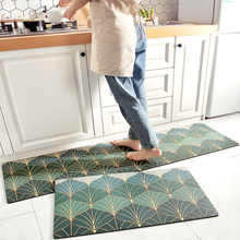 2021 Style Kitchen Mat Nordic Modern Kitchen Long Mats Thick Waterproof and Oil-proof Kitchen Foot Mats Non-slip Rug