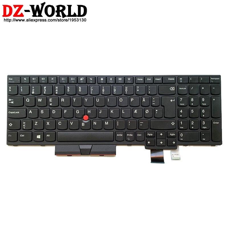 لوحة مفاتيح دنماركية جديدة أصلية لجهاز Lenovo Thinkpad T570 P51S T580 P52S كمبيوتر محمول Danmark Teclado 01ER509 01EN937 SN20M07856