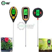 Sol PH mètre testeur de sol PH humidimètre température lumière du soleil intensité acidité alcalin analyseur pour plante fleur ferme jardin