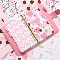 5 sheets paper index divider a5 a6 cute 6 holes for binder planner notebook stationerycandy notebook paper divider accessories