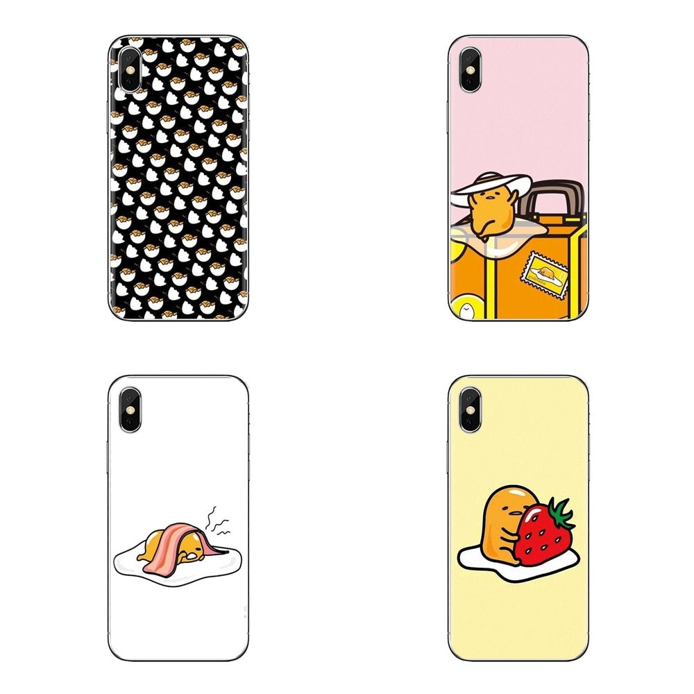 Para Samsung Galaxy S2 S3 S4 S5 MINI S6 S7 borde S8 S9 Plus nota 2 3 4 5 8 Coque Fundas japonesa de dibujos animados de huevo perezoso Gudetama vivienda