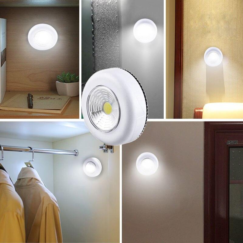 COB Touch Licht Runde LED Unter Kabinett Licht Wand Lampe Schrank Schrank Schrank Licht Notfall Küche Nacht Licht Für Home